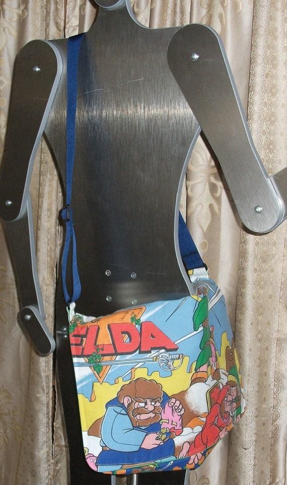 Legend of Zelda   Messenger Bag  / Hip Bag  OOAK...Nintendo