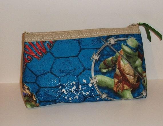 TMNT   Makeup- Bag--Handmade  Ninja Turtles