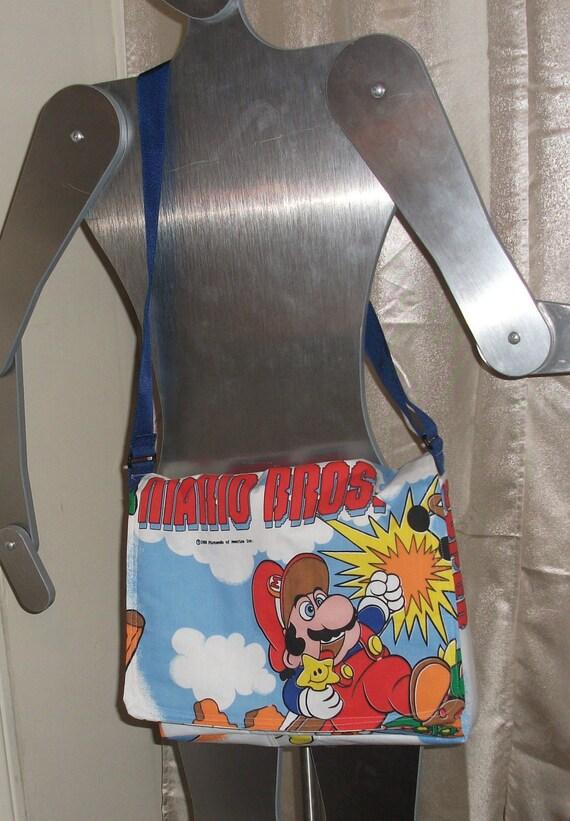 Super Mario Bros and Legend of Zelda   Messenger Bag  / Hip Bag  OOAK...Nintendo
