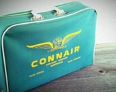 Soft Side Suitcase Airline Vintage Connair Australia