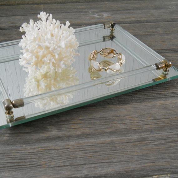 Vintage Mirror Dresser Vanity Tray By Hazeyjanevintage On Etsy