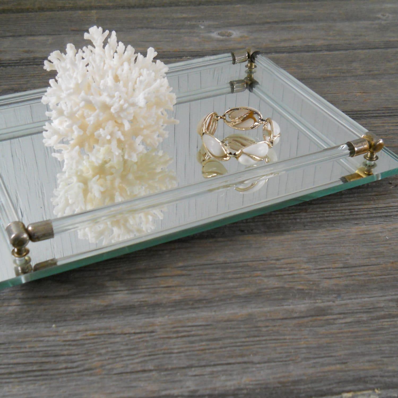Vintage Mirror Dresser Vanity Tray