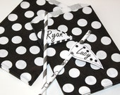 Favor Bags, 24 Black Polka Dot Favor Bags, Candy Bags, Black Candy Bags, Wedding Favor Bags, Star Wars Party Favors, Candy Bags, Treat Bags