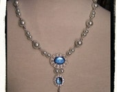 Sky Sapphire Lady in Waiting Tudor Renaissance Medieval Costume Necklace