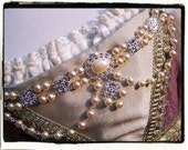 The Duchess Ivory Pearl and Silver Bodice Jewelry