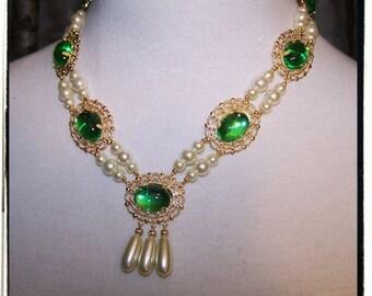 Beauty Tudor Renaissance Medieval Costume Necklace Custom Jewelry