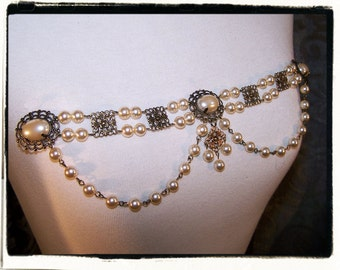 BYO The Duchess Bodice Pearl Costume Jewelry Tudor Renaissance Medieval Dress Accesories