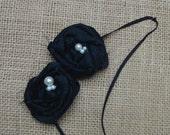 Black Rosette Headband