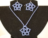 Beautiful Blue Tatted Pendant with matching Earrings