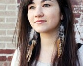 Unique Feather Earrings. Long, Dangling, Natural, Native American Inspired. Handmade Jewelry By Kiss Every Comma On Etsy
