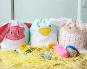 SALE - PDF Sewing Pattern - Easter Treat Bags 3 Pack