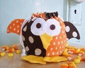 Halloween Pattern - PDF -  Jester Owl Treat Bag