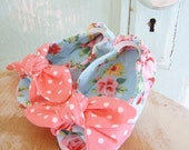 Baby Shoe Pattern - Open Toe Knotted Baby Shoe Size newborn to 2T
