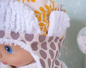 Hat Pattern - PDF - Fur or Chenille Lined Winter Hat