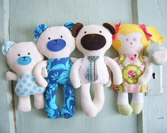 Toy Sewing Pattern - PDF - Goldilocks and the Three Bears