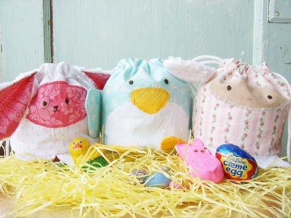 PDF Sewing Pattern - Easter Treat Bags 3 Pack