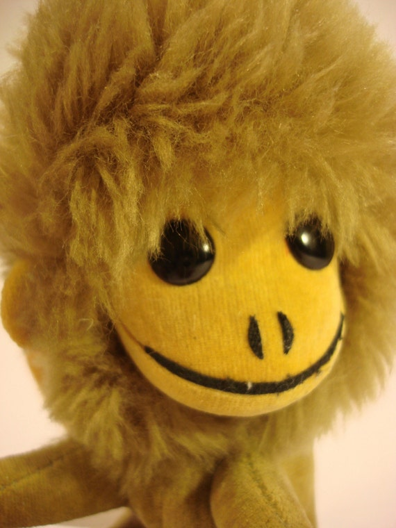 Vintage Japanese Monkey Plush Toy from Kamar Wild Thing series