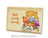 brother sisters door sign hanger kids room decor children book nook door plaque reading library etsy children