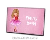 Personalized children name sign,custom door sign,kids door signs,wooden door sign for girl room,nursery door sign,Ballerina dancer wall sign