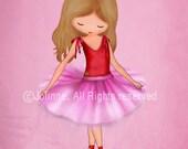 Ballerina girls art, Ballerina Wall art, Girls Nursery Decor, Art Decor, kids room wall art, pink wall art for girls nursery, Pink Purple