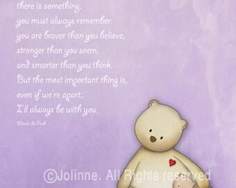 I'll always be with you - Nursery Art - Children art print - Nursery decor - Winnie the Pooh