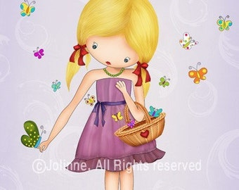 Children art print poster, playroom decoration art, nursery poster for girls, personalized art decor, decorative artwork for baby room, girl