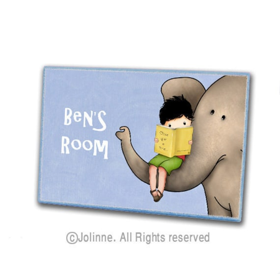 Personalized children name door sign kids room art by jolinne for Kids room signs