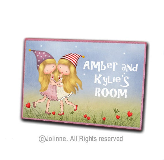 Items Similar To Door Sign For Sisters Room Personalized