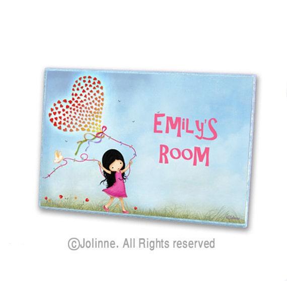 Kids room sign custom girls door sign by jolinne on etsy for Kids room signs