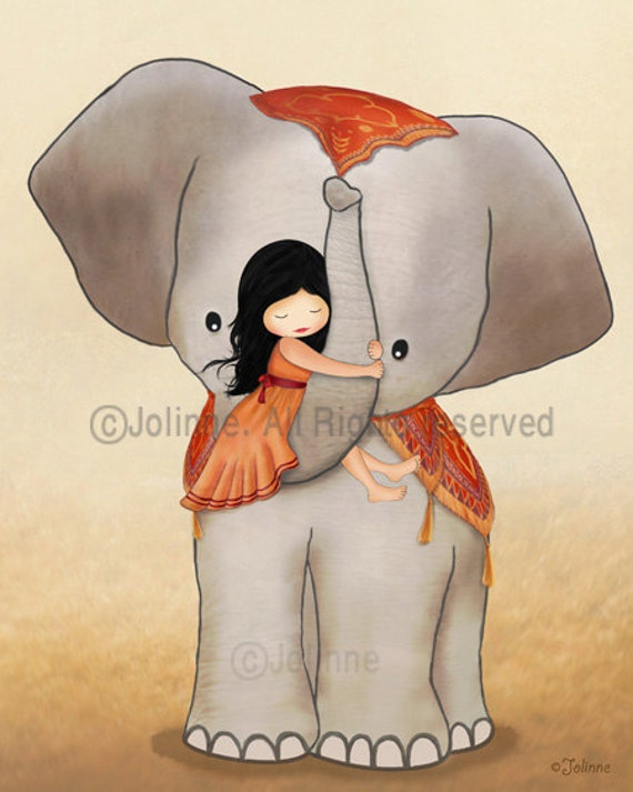 Baby elephant nursery decoration, girl nursery personalized print, Kids rooms custom wall art, Girl on elephant Wall Decor Kids Room, Poster
