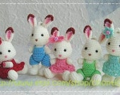 Mini Rabbit 2.5inches - PDF amigurumi crochet pattern
