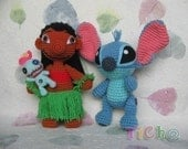 Lilo  and Stitch set - PDF crochet pattern