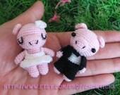Miniature Piggy Wedding doll - PDF amigurumi Crochet Pattern