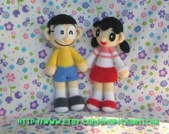 NOBITA and SHIZUKA - PDF crochet pattern