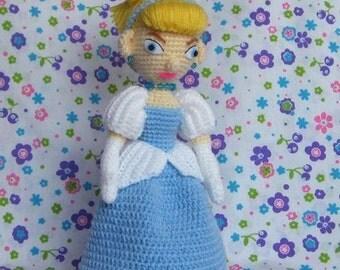Lady CINDERELLA 10 inches - PDF amigurumi crochet pattern