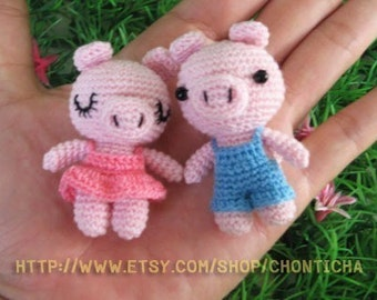 Miniature Piggy doll - PDF Crochet Pattern
