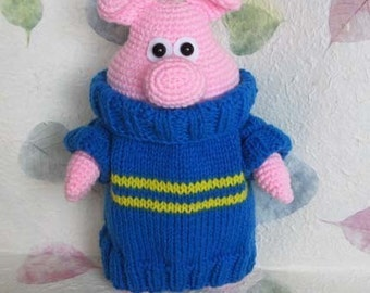 PAXTON the happy piglet 12.5 inches - PDF crochet pattern