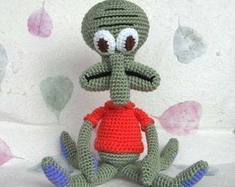 Squidward 15 inches - PDF crochet pattern