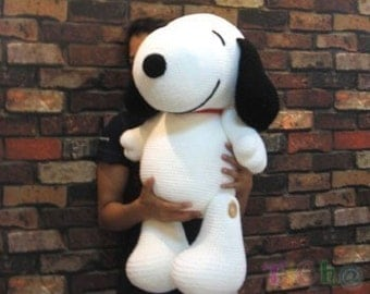 Snoopy dog 27 inches - PDF amigurumi crochet pattern