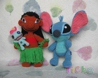 Lilo  and Stitch set - PDF crochet pattern