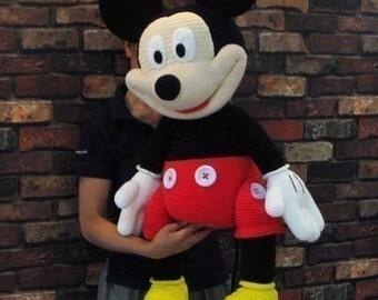 Mickey Mouse 35 inches - PDF amigurumi crochet pattern