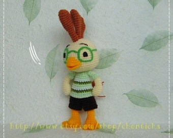 Chicken little 9 inches - PDF crochet pattern