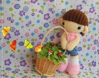 MEI MEI girl 8 inches - PDF crochet pattern