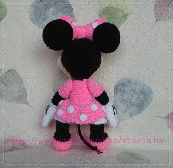 Minnie Mouse Amigurumi Crochet Pattern : Minnie Mouse 10 inches - PDF amigurumi crochet pattern ...