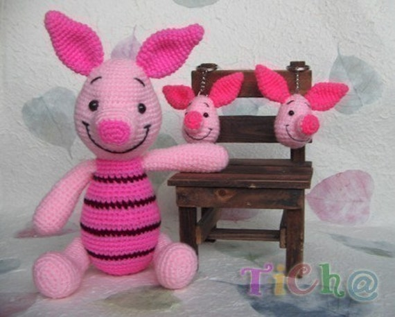Amigurumi Piglet Patterns : Piglet pink 12inches PDF amigurumi crochet pattern