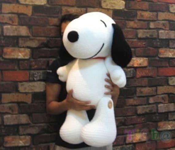 Amigurumi Schemi Free Italiano : Snoopy 27 inches PDF amigurumi crochet pattern by Chonticha