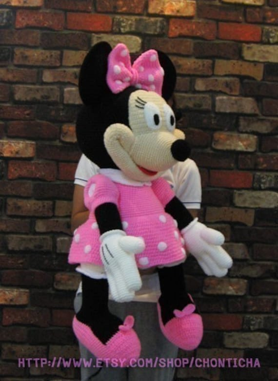 Minnie Mouse 35 inches PDF amigurumi crochet pattern