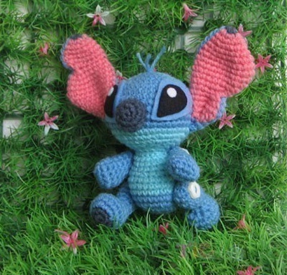 Stitch super cute PDF amigurumi crochet by ChontichaDESIGN