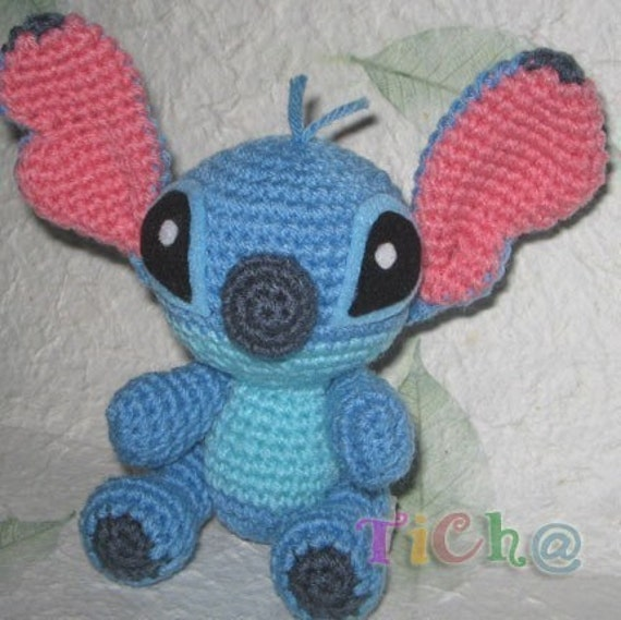 Stitch super cute - PDF amigurumi crochet pattern from ...