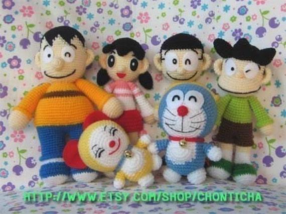 Amigurumi Doraemon Tutorial : DORAEMON and FRIENDS PDF amigurumi crochet pattern